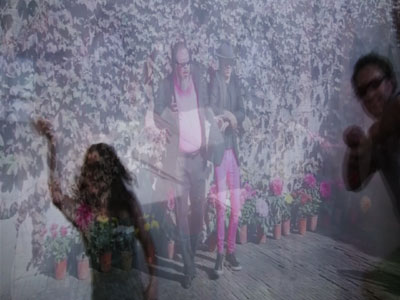Still from the video, Gangnam Style RAVE by Sonja van Kerkhoff + Sen McGlinn